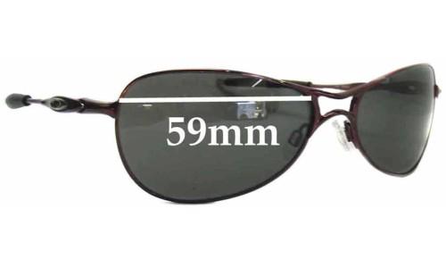 Sunglass Fix Replacement Lenses for Oakley Crosshair S Womens - 59mm wide