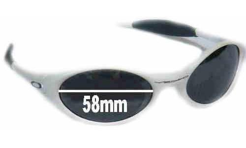 Oakley Eye Jacket New Sunglass Lenses - 58 mm wide