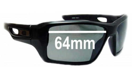 Oakley Eye Patch 2 Replacement Sunglass Lenses - 64mm Wide