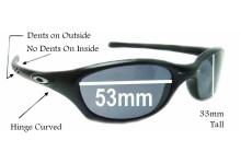 Oakley Fives 2.0 Replacement Sunglass Lenses - 53MM across top 40MM across bot 33MM tall