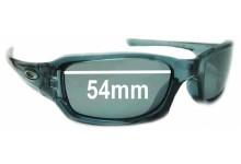 Oakley Fives 3.0 Replacement Sunglass Lenses 54MM across top-47 across bot-34 high