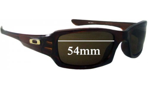 Sunglass Fix Replacement Lenses for Oakley (4 + 1) Squared - 53-54mm Wide