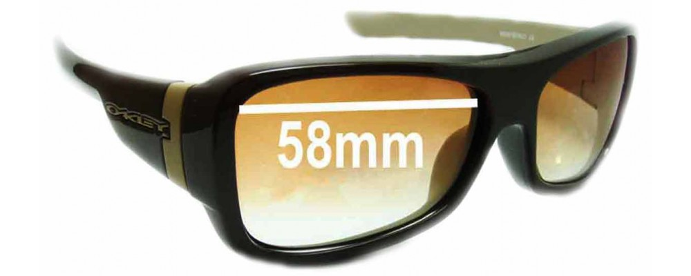 Oakley Montefrio Replacement Sunglass Lenses - 58mm wide