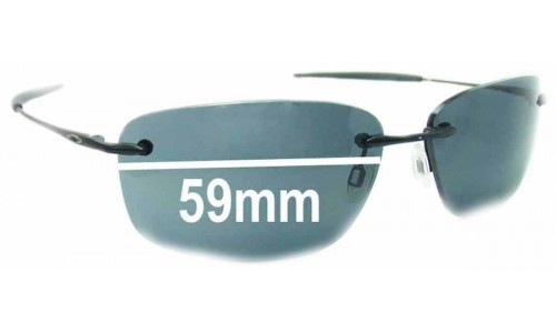 Oakley Nanowire 1.0 Replacement Sunglass Lenses - 59mm Wide