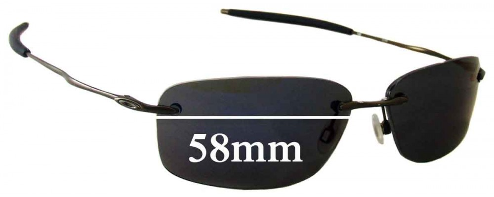 Oakley Nanowire 2.0 Replacement Sunglass Lenses - 58mm Wide