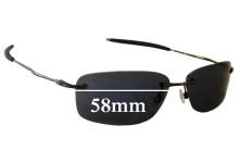 Oakley Nanowire 2.0 Replacement Sunglass Lenses - 58mm Wide