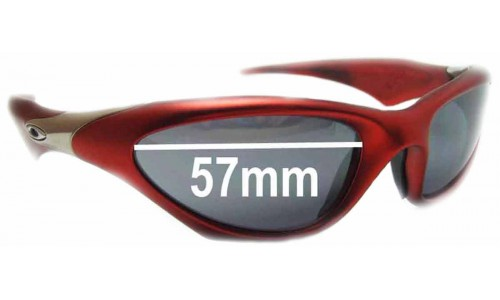 Oakley Scar Replacement Sunglass Lenses - 57mm wide