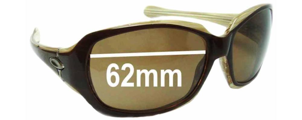 Oakley Script Asian Fit Replacement Sunglass Lenses 62mm wide