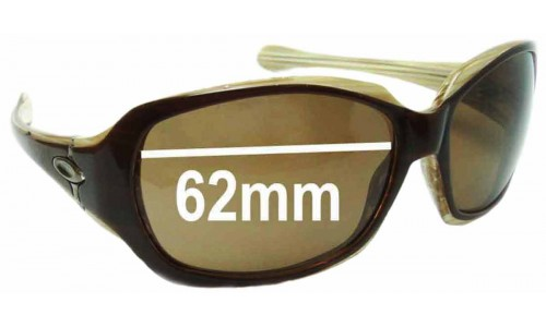 Oakley Script Asian Fit Replacement Sunglass Lenses 62mm wide