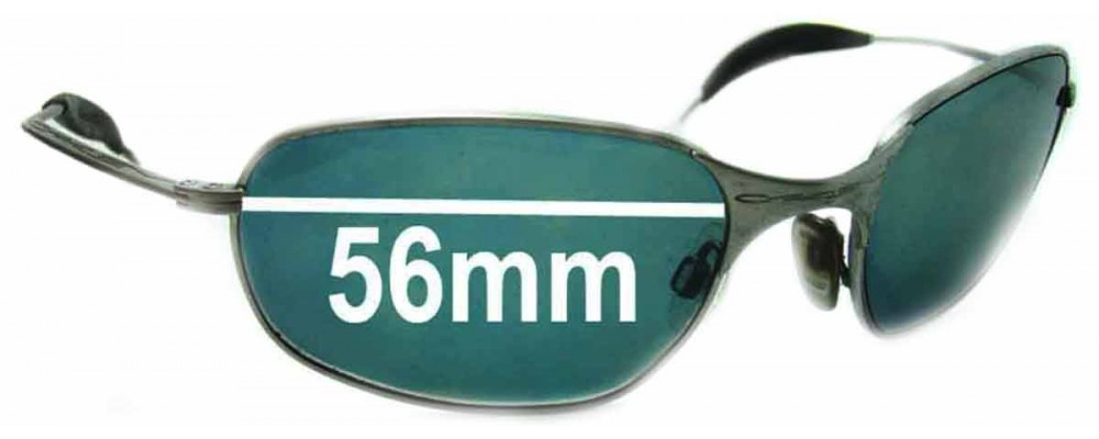 Oakley Square Wire Replacement Sunglass Lenses - Version 1.0 or Originals - 56mm Wide