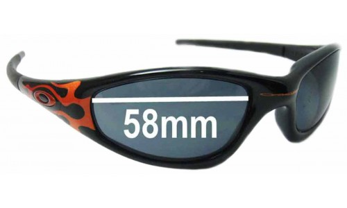 Oakley Straight Jacket Replacement Sunglass Lenses 58 mm wide
