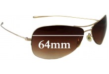 Oliver Peoples Commodore Replacement Sunglass Lenses - 64mm wide