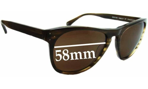 Oliver Peoples Daddy B Replacement Sunglass Lenses - 58mm wide