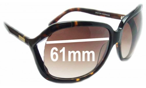 Oroton Cosmopolitan Replacement Sunglass Lenses - 61mm Wide