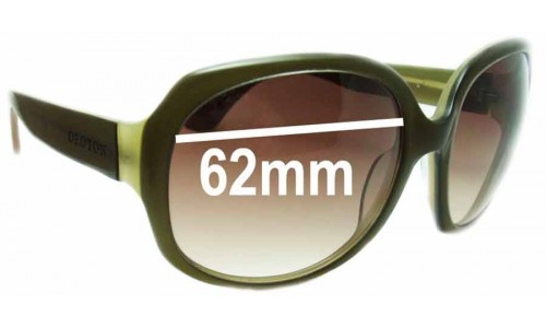 Oroton Hideaway New Sunglass Lenses - 62mm Wide