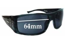 Otis Bubba Replacement Sunglass Lenses - 64mm wide