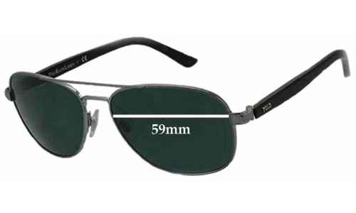 Polo 3032 New Sunglass Lenses - 59mm Wide