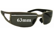 Porsche P'8458 Replacement Sunglass Lenses - 63mm Wide