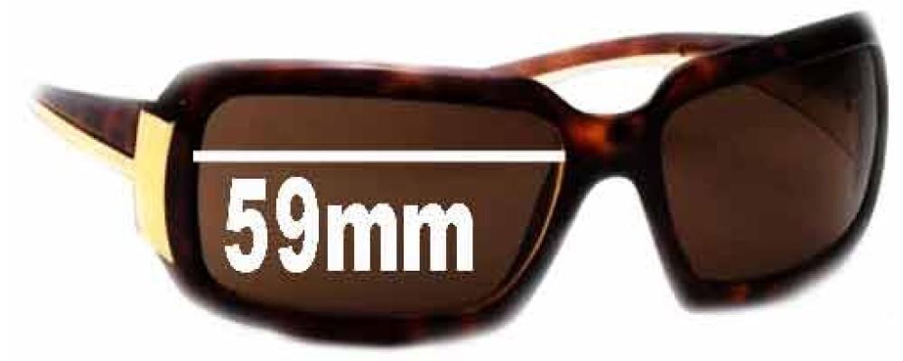 Prada PR 01HS Replacement Sunglass Lenses - 59mm Wide