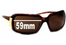 Prada PR 01HS Replacement Sunglass Lenses - 59mm Wide