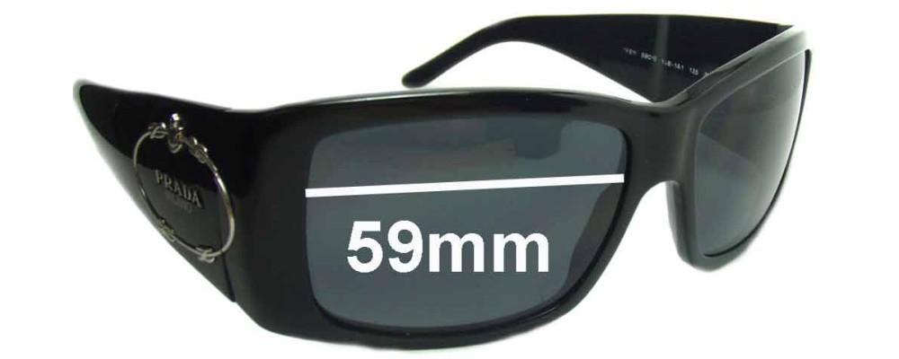 Prada SPR01I Replacement Sunglass Lenses - 59mm wide lens
