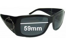 Prada SPR01I Replacement Sunglass Lenses - 59mm wide lens
