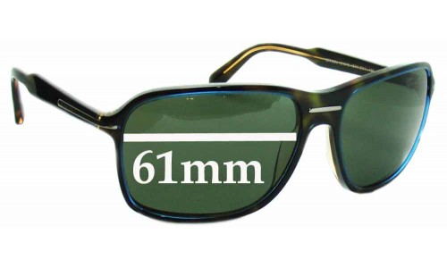 Prada SPR02N Replacement Sunglass Lenses - 61mm wide lens