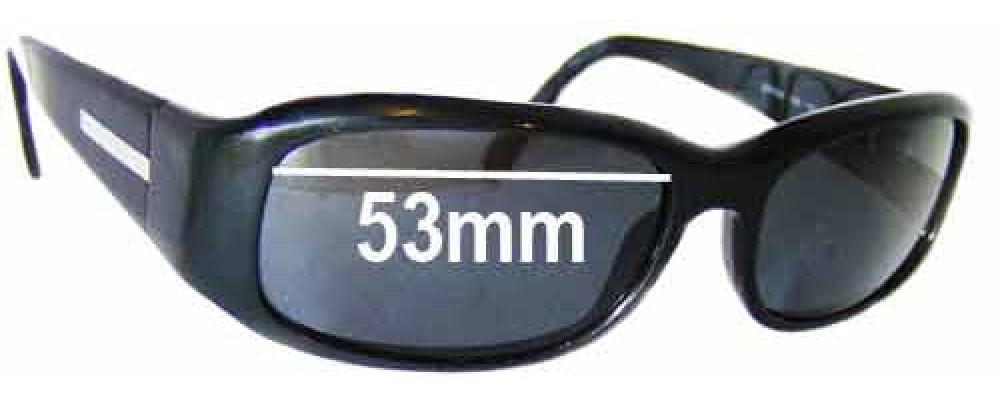 Prada SPR03E Replacement Sunglass Lenses -53mm wide