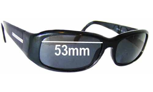 Prada SPR03E Replacement Sunglass Lenses -53mm wide