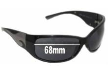 Prada SPR03G 1AB1A1 Replacement Sunglass Lenses - 68mm lens