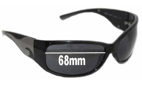 Sunglass Fix Replacement Lenses for Prada SPR03G 1AB1A1 - 68mm lens