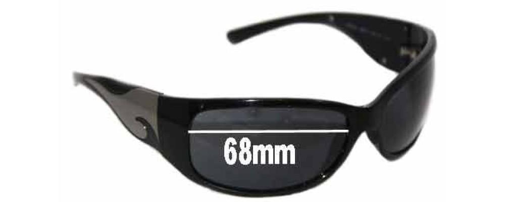 Prada SPR03G Replacement Sunglass Lenses 68mm Wide lens (NOT SPR03G 2AU2Z1 or 1AB1A1)