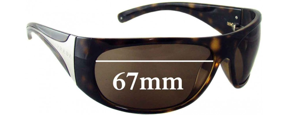 Prada SPR06I Replacement Sunglass Lenses - 67MM across
