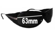 Prada SPR07I Replacement Sunglass Lenses - 63mm lens