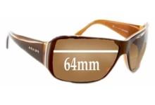 Prada SPR09G Replacement Sunglass Lenses - 64mm lens
