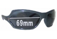 Prada SPR11G Replacement Sunglass Lenses - 69mm lens