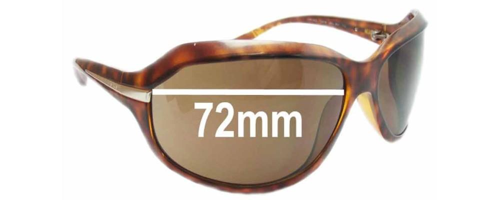 Prada SPR14G Replacement Sunglass Lenses - 72mm wide