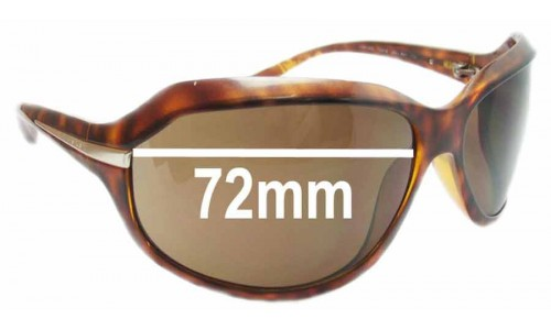 Prada SPR14G Replacement Sunglass Lenses - 72mm wide