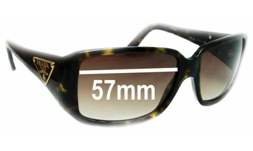 537530eb2bc9e Prada SPR16L Replacement Lenses - 57mm Wide