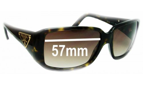 Prada SPR16L Replacement Sunglass Lenses - 57mm Wide
