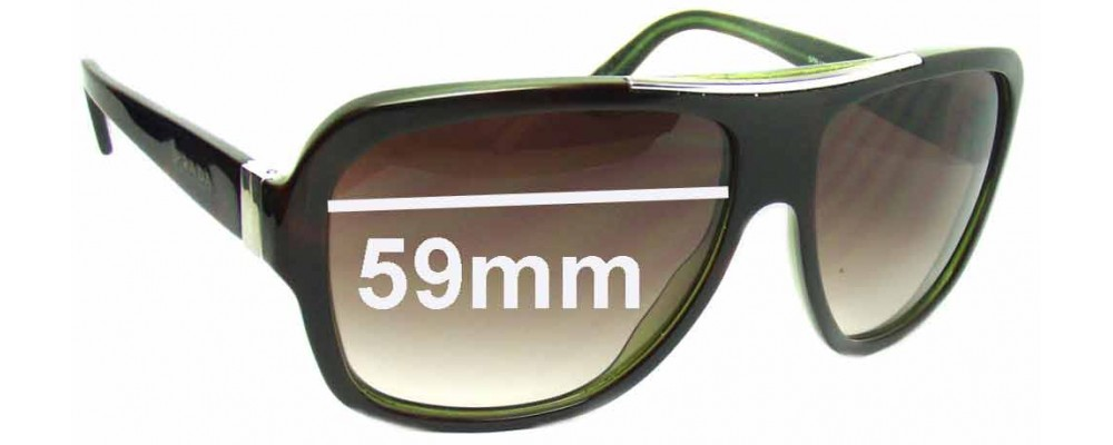 Prada SPR17L Replacement Sunglass Lenses - 59mm wide lens