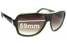 Prada SPR17L Replacement Sunglass Lenses - 59mm wide lens