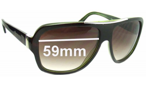 Prada SPR17L New Sunglass Lenses - 59mm wide lens