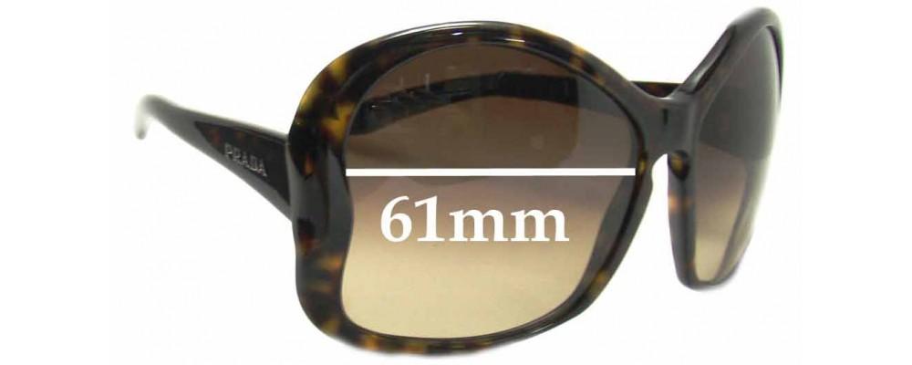 Prada SPR 18i Replacement Sunglass Lenses - 61mm Wide