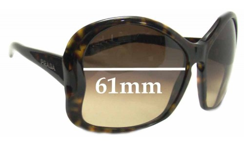 Prada SPR 18i Replacement Sunglass Lenses - 61mm Wide