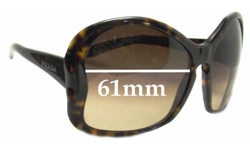Sunglass Fix Replacement Lenses for Prada SPR 18i - 61mm Wide