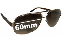 Prada SPR50L Replacement Sunglass Lenses - 60mm wide lens