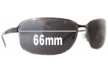 Prada SPR52E Replacement Sunglass Lenses - 66mm wide