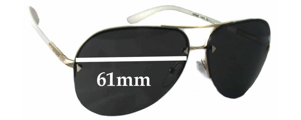 Prada SPR53O Replacement Sunglass Lenses - 61mm wide