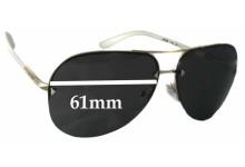 Prada SPR53O Replacement Sunglass Lenses - 61mm wide